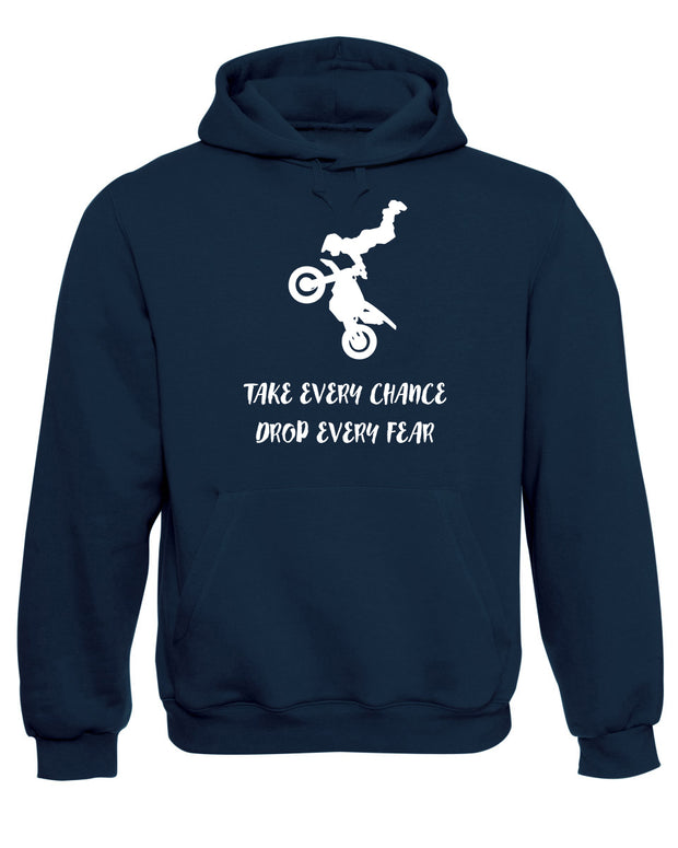 Motorcyclist Stunt Bike Rider Hooded Sweatshirt