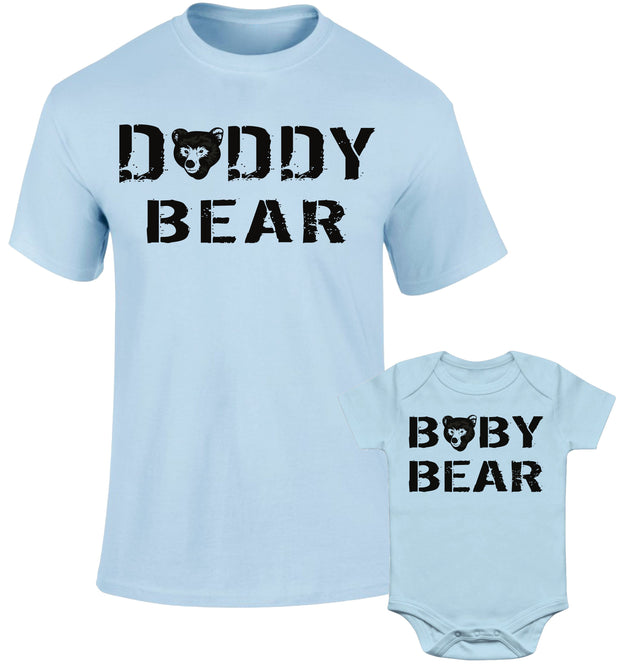 c6e98368 Father Daddy Daughter Dad Son Matching T shirts Daddy & Baby Bear