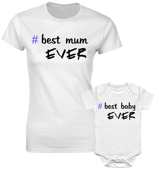 Best Mum Ever Best Boy Ever Mummy Son Mother Daughter Matching T shirts