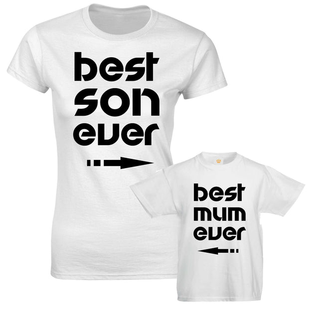 Best Son Ever Best Mum Ever Mother Son Mummy Kid Matching T shirts