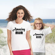 Amazing Mum Amazing Kid Mummy And Son Matching T shirt