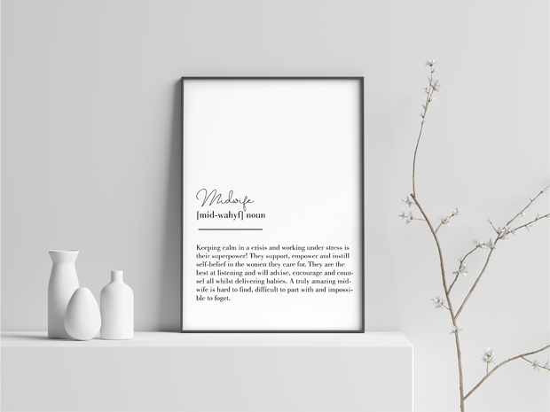 Midwife Definition Art Prints