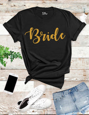 Bride-Gold-T- Shirt-Black