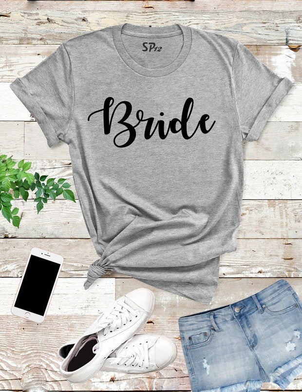 Bride-Gold-T- Shirt-Grey