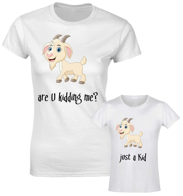 Are You Kidding Me? Just A Kid Mother Daughter Son Mummy T shirt