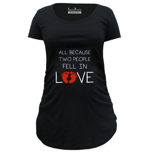 Fall In Love Baby Pregnancy T Shirts