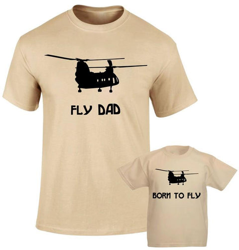 Fly dad Born to Fly High Flyers Family Matching T shirt