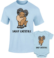 Father Daddy Daughter Dad Son Matching T shirts Daddy Baby Rammer Ram