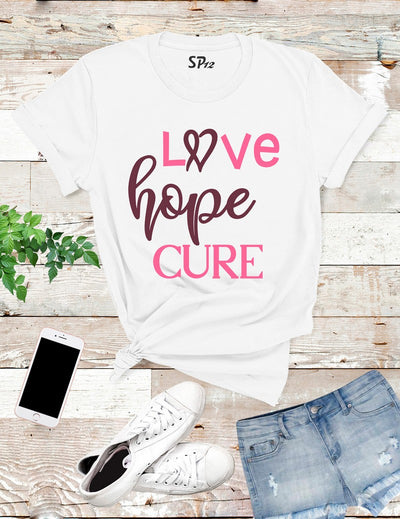Hope-Love-Cure-Breast-Cancer-T-Shirt-White
