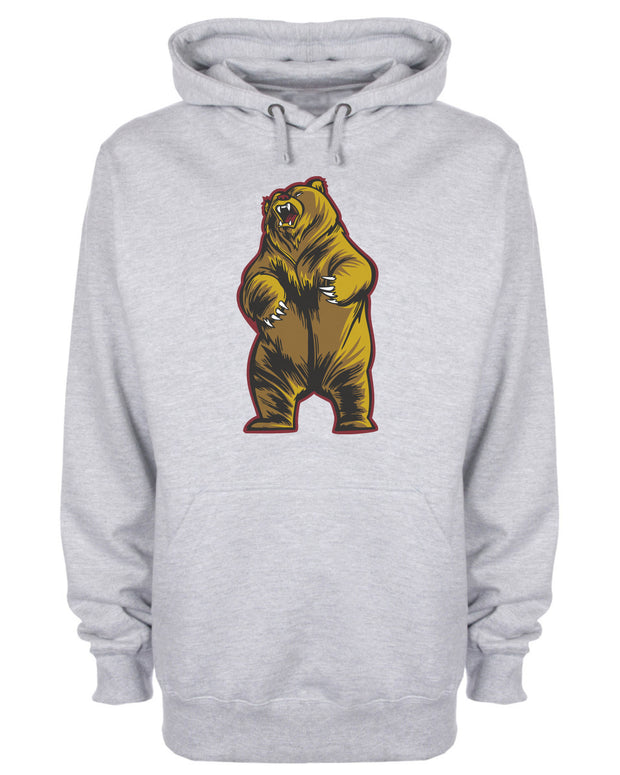 Angry Bear Character Hooded Sweatshirt