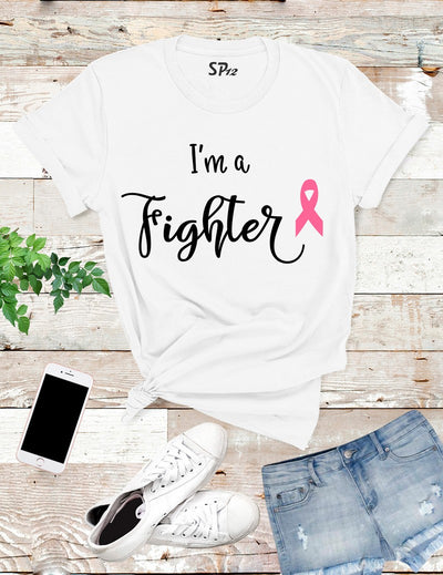 I'm-A-Fighter-Breast-Cancer-T-Shirt-White