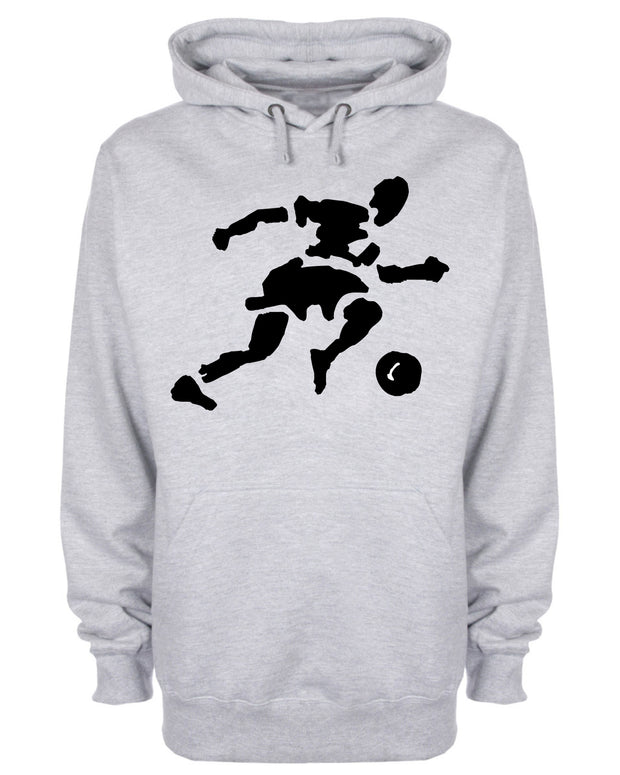 Footballer Playing Football Hoodie