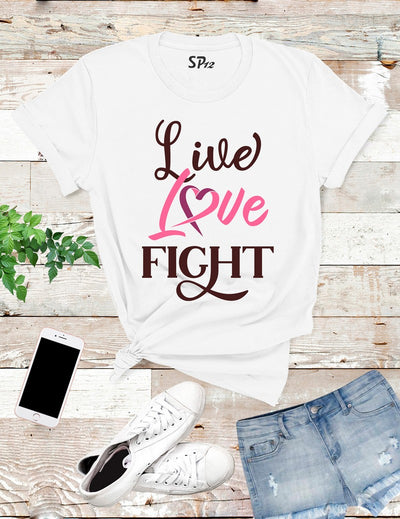 Love-Live-Fight-Breast-Cancer-T-Shirt-White