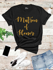 Matron-of-Honor-T -Shirt-Black