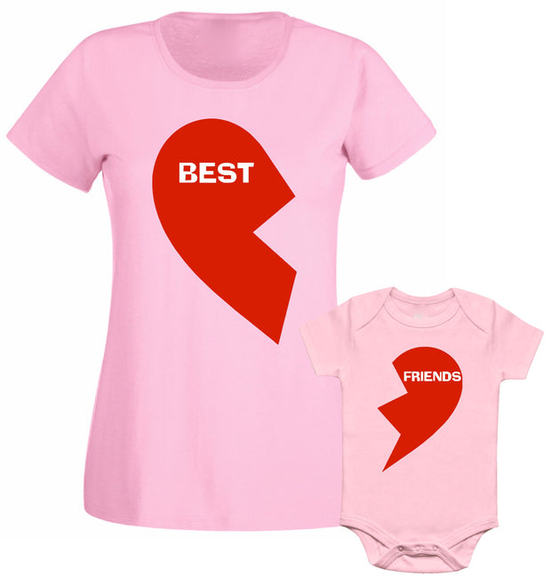 Best Friend Red Heart Mummy Daughter Son Mummy Mothers Day T shirt