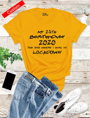 Personalised Birthday Lockdown T Shirt