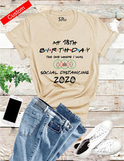 Personalised Birthday Social Distancing T Shirt