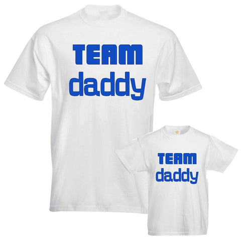Father Daddy Daughter Dad Son Family Matching T shirts Team Daddy Slogan