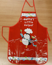 Santa Little Helper Christmas Apron for Kids - Red