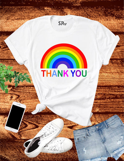 Thank You Rainbow T Shirts