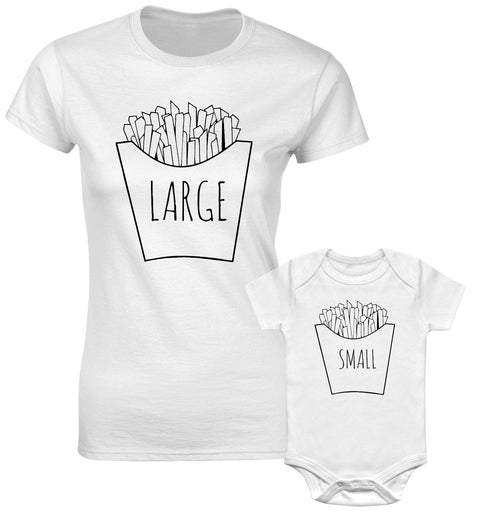 Large Chips Small Chips Mum Son Mother Daughter Matching T shirts