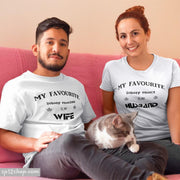 Matching Couple T Shirts Wife Husband Prince Princess His And Hers Tee