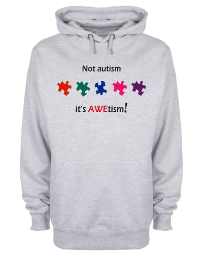 Not Autism It's AWEtism Puzzle Hoodie