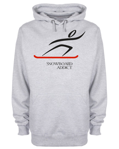 Snowboard Addict Ski Holiday Slogan Hoodie