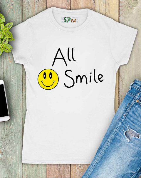All Smile Funny Emoji Women T Shirt