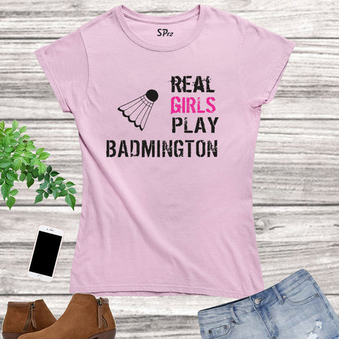 Badminton Women Sports T Shirt