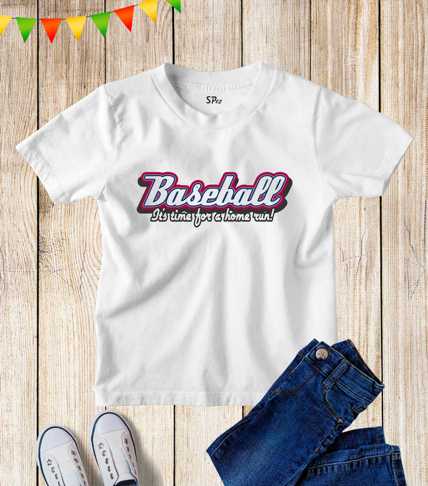 Baseball Sport Kids T Shirt