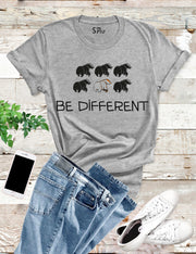 Be Different Cool Character Graphic Brave Slogan T shirt