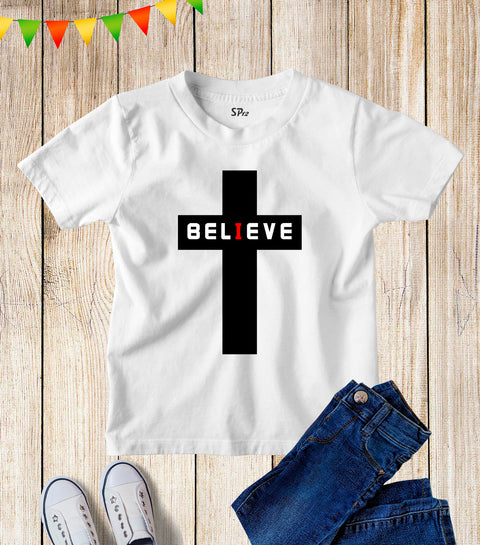 Believe Cross Kids T Shirt