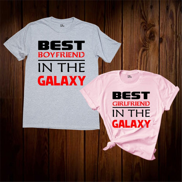 Best Boyfriend And Girlfriend In The Galaxy Couple T Shirt