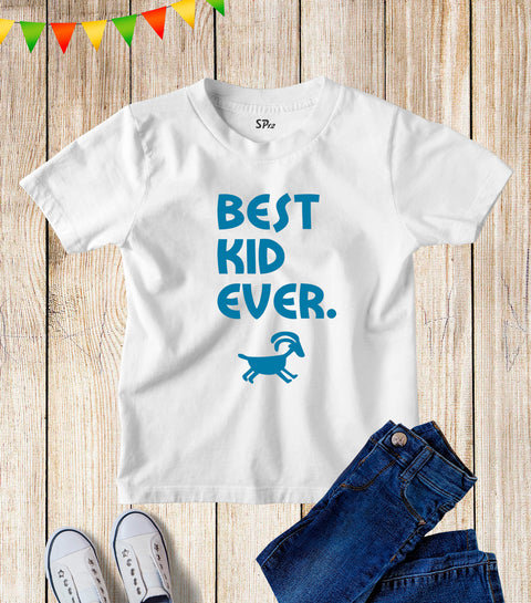 Kids Best Kid Ever Goat Funny Slogan T Shirt