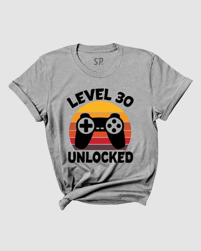 Birthday T Shirt Level 30 Unlock Gamer Birthday tshirt
