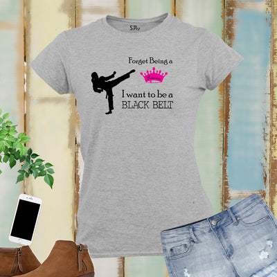 Black Belt Karate Women T Shirt