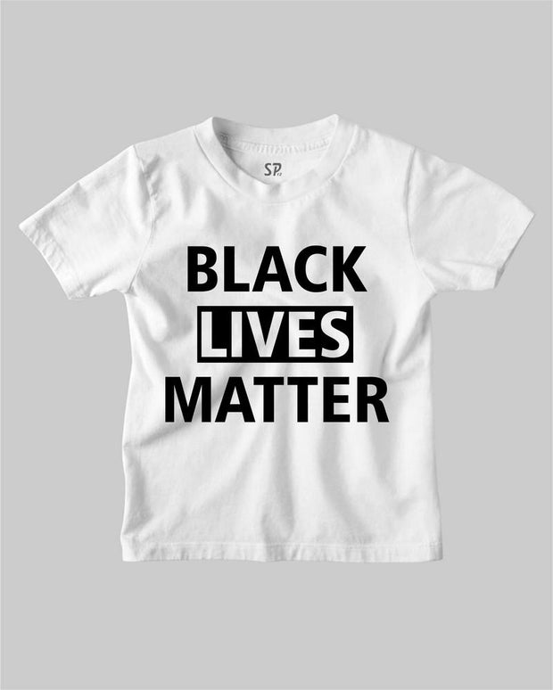 Black Lives Matter Kids T Shirt Black Movement Equality Civil Rights Tee