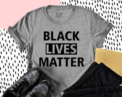 Black Lives Matter T Shirt Black Movement Equality Civil Rights Tee