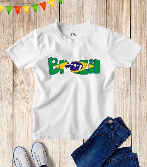 Brazilian Patriotic Kids T Shirt