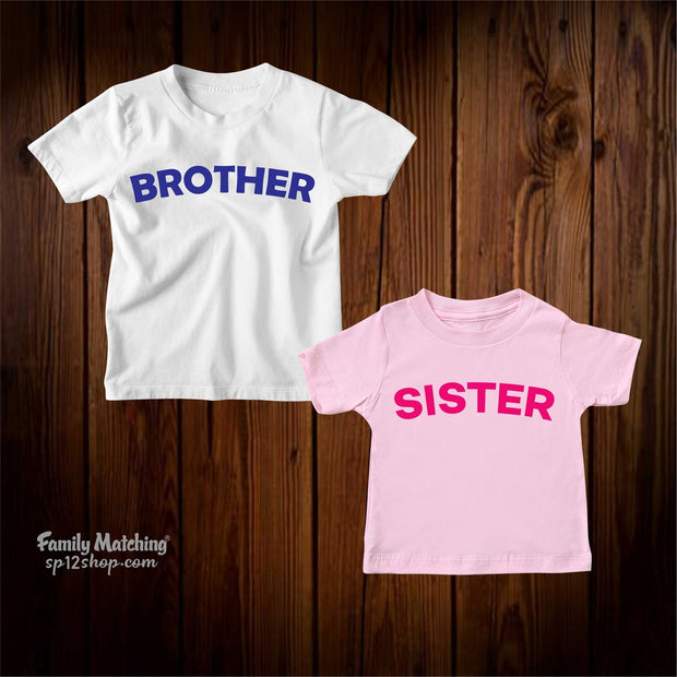 Brother And Sister Matching Kids t Shirt