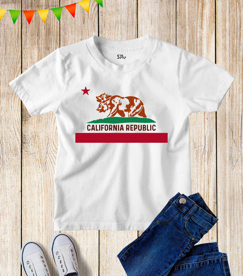 California Republic Kids T Shirt