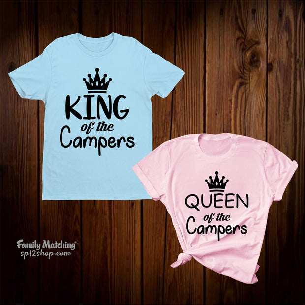 Camper King And Queen Couple Camping T Shirt
