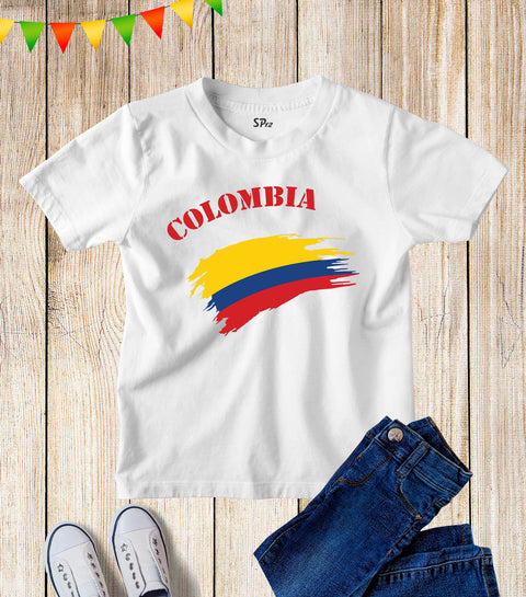 Colombia Kids Patriotic T Shirt