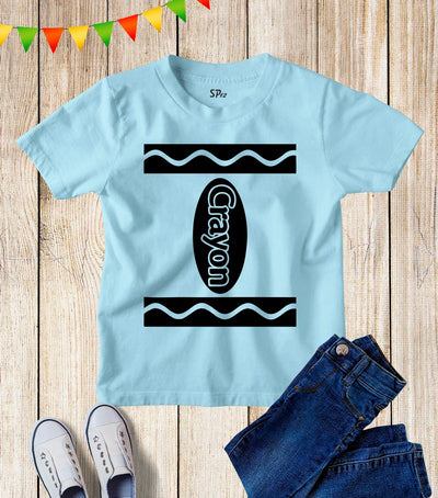 Crayon Book Day Kids T Shirt