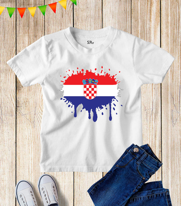 Croatia Flag Kids Patriotic T Shirt