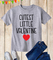 Cutest Little Valentine Kids T Shirt