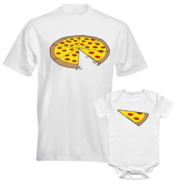 Pizza T Shirt Dad and Baby Matching Outfit