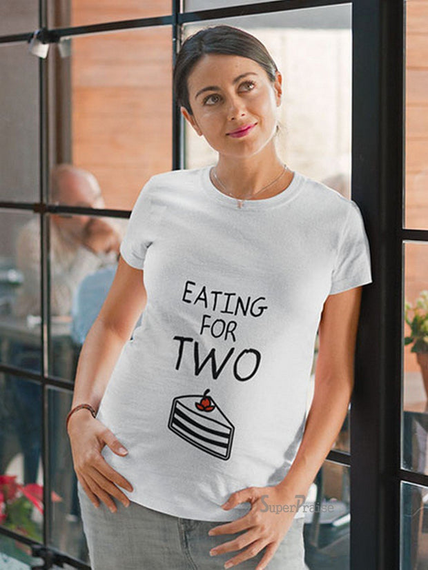 Eating For Two Baby Announcement Pregnancy T Shirts