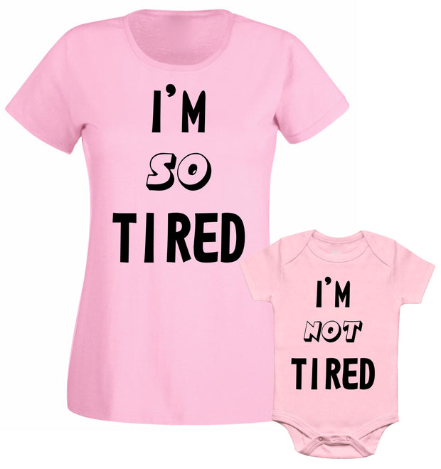 I Am So Tired I Am Not Tired Slogan Mum Mummy Mothers Day Family Matching T shirt